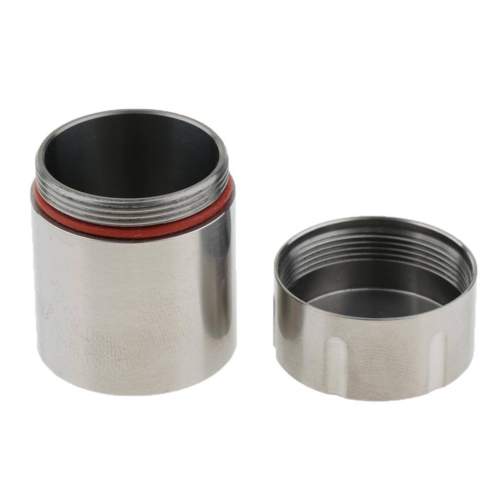 Titanium-Survival-Waterproof-Capsule-Pill-Case-Box-Tablets-Storage-Container thumbnail 7