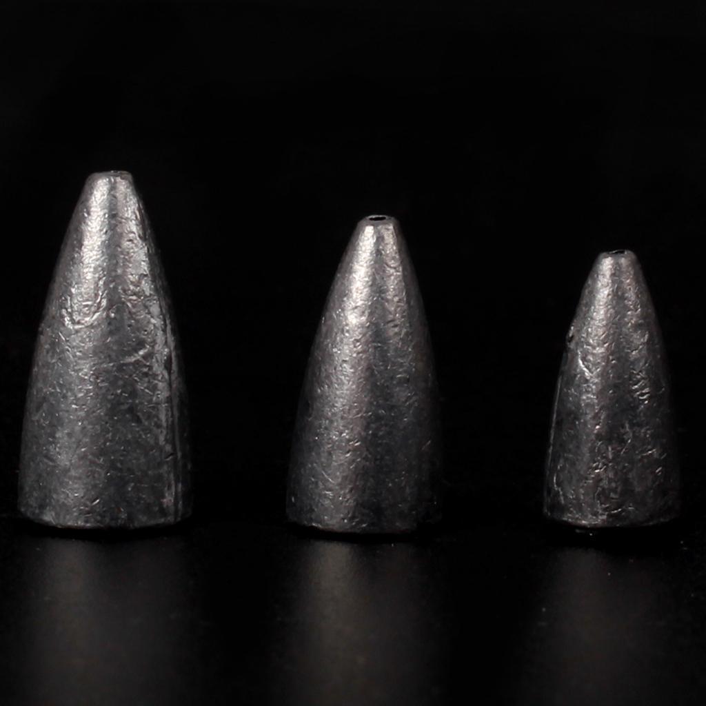 50x-Fishing-Water-Bullet-Shape-Lead-Sinkers-Weights-Bass-Casting-Fast-Sinker thumbnail 12
