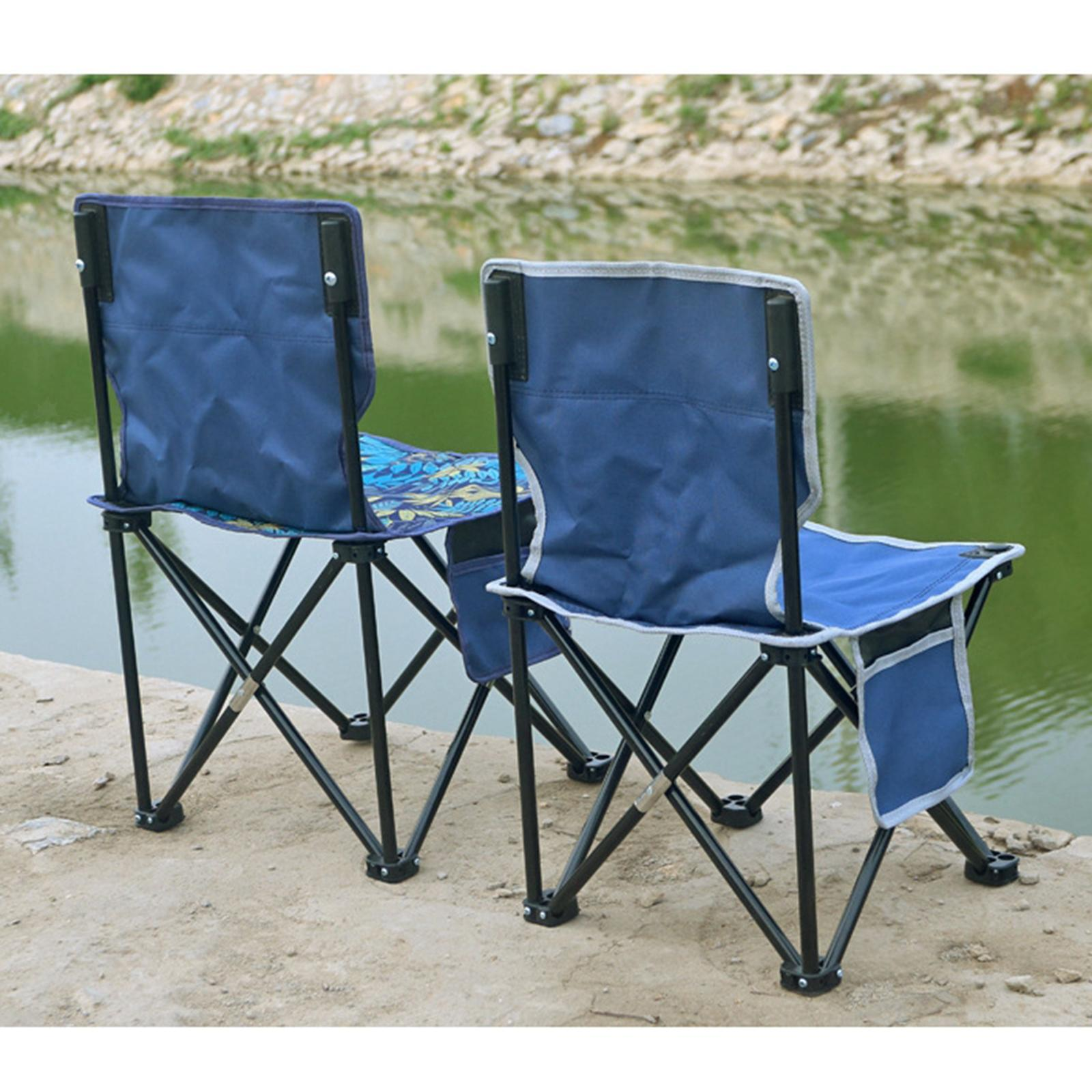 miniatura 18 - Sedia-da-campeggio-pieghevole-Sedia-da-spiaggia-Sgabello-da-pesca-Picnic-Outdoor