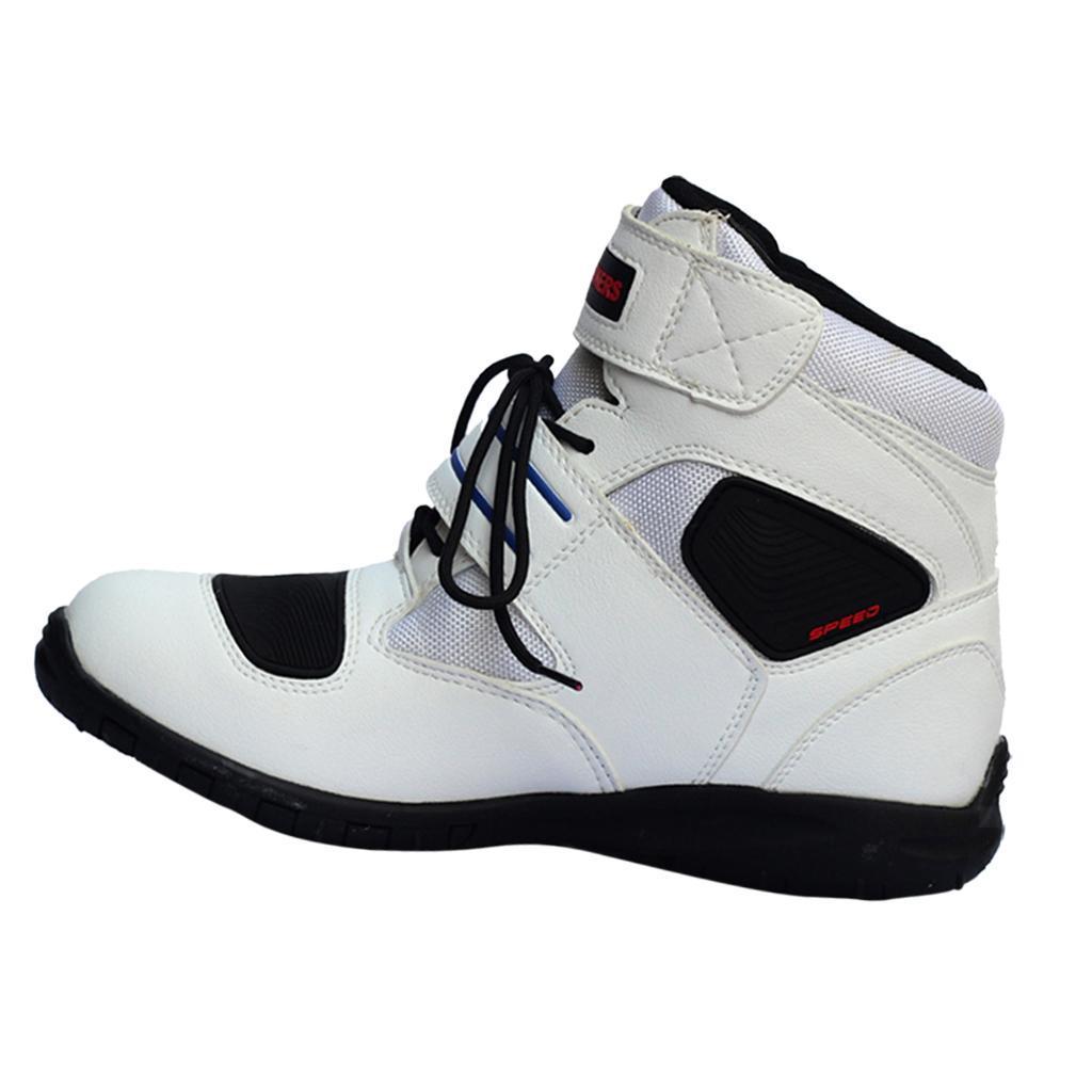 1-PAIA-CORTO-MOTO-Protezione-Caviglia-Stivali-Scarpe-Antiscivolo-Sports miniatura 22