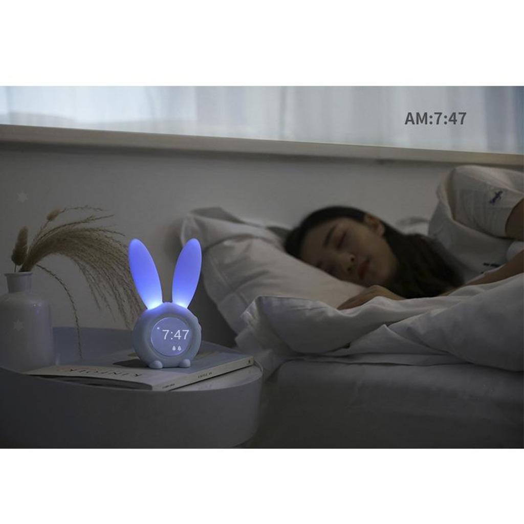 Snooze-Alarm-Clock-Luce-di-Notte-Termometro-Per-Bambini-Bambini-Svegli-Del miniatura 9