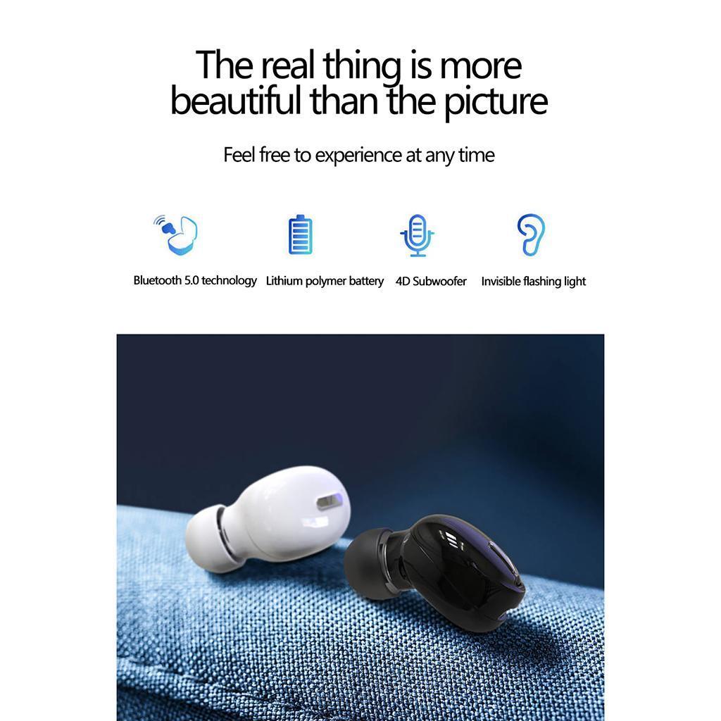 X9-Auricolari-Bluetooth-5-0-Auricolare-Senza-Fili-Mini-Stereo-Cuffie-Auricolari miniatura 13