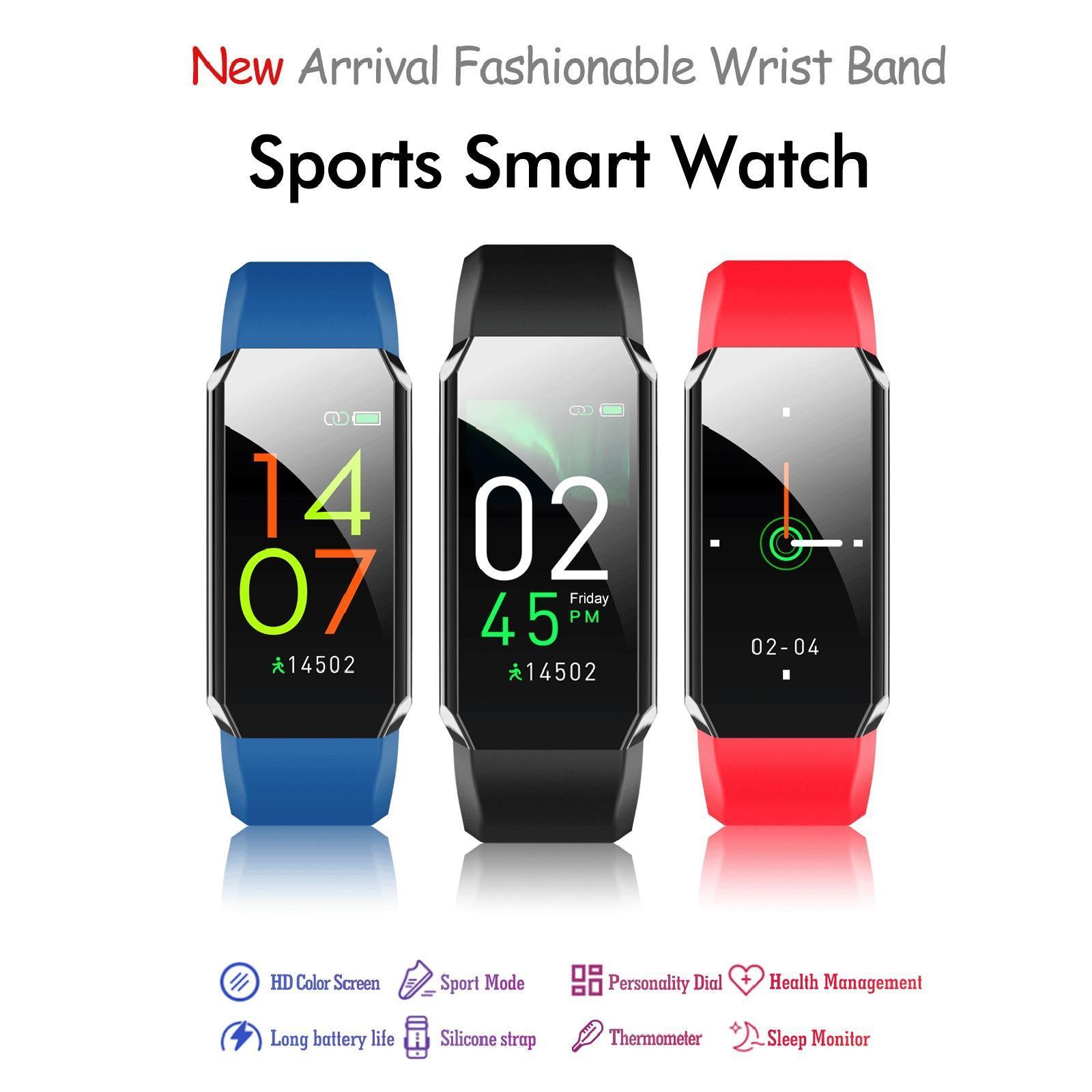 Indexbild 3 - Wasserdichtes Smart Watch Blutsauerstoffdruck Herzfrequenzmesser Armband
