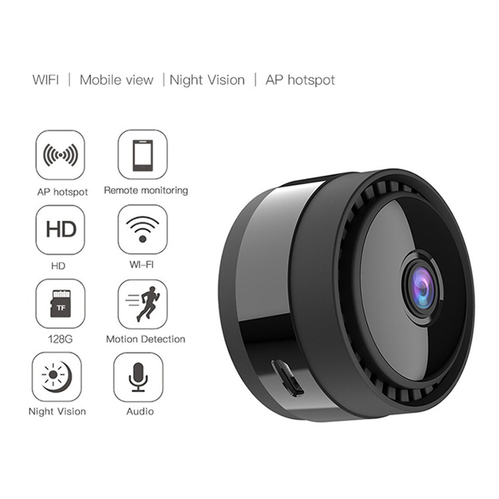 Smart Hidden Spy Camera WiFi Mini 1080P Wireless Nanny Camera Remote viewing