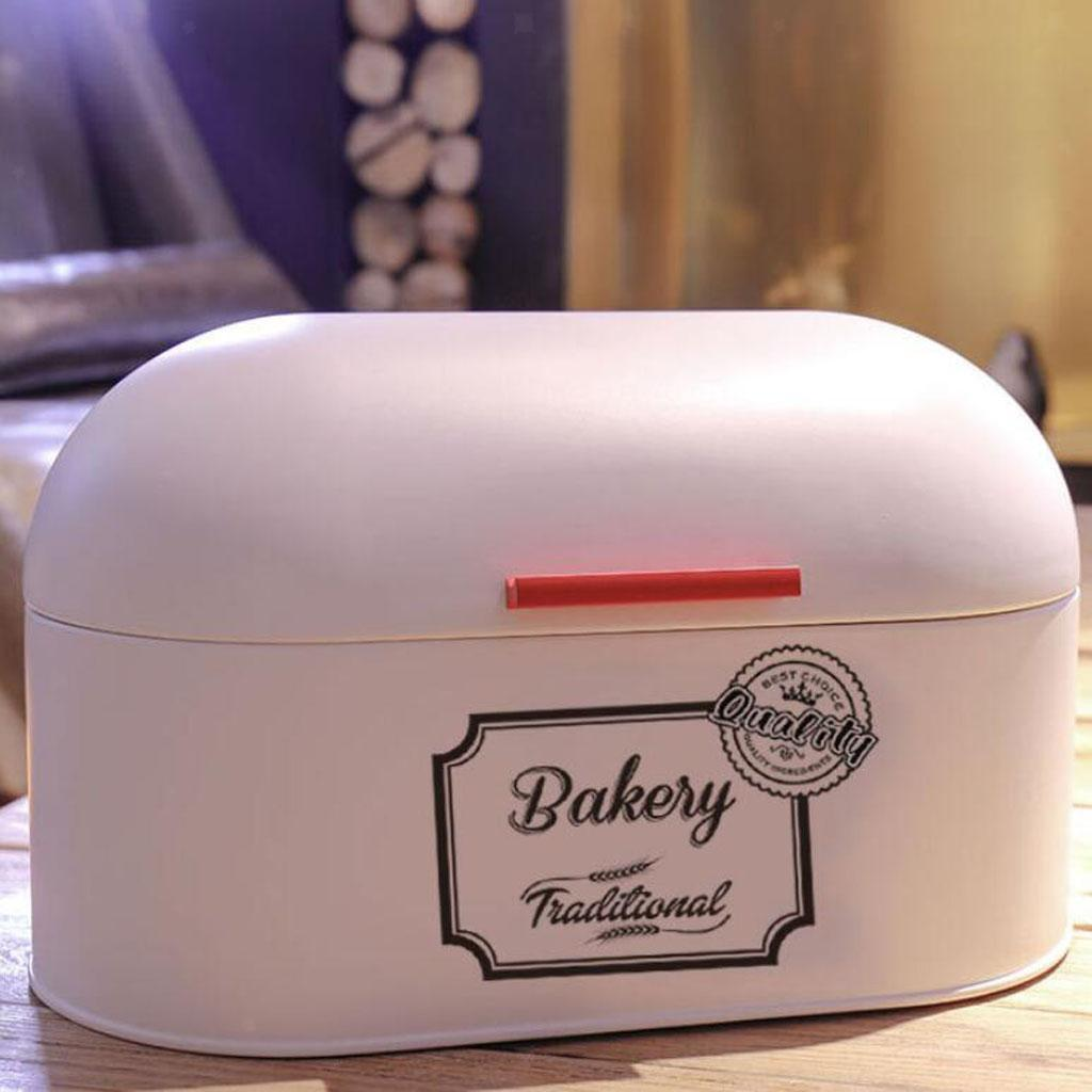 Kitchen Metal Bread Box Countertop Bread Storage Bin ...