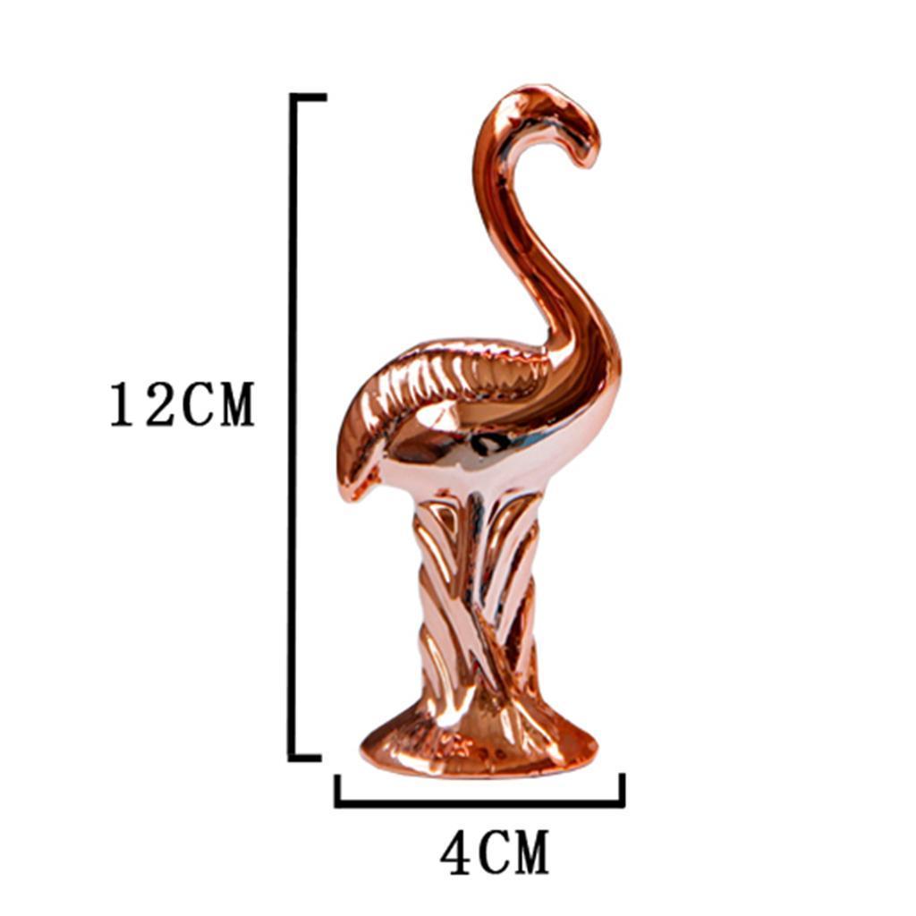 Flamingo-Figurines-Miniatures-Ornement-Decoration-De-Bureau-Artisanat miniature 4