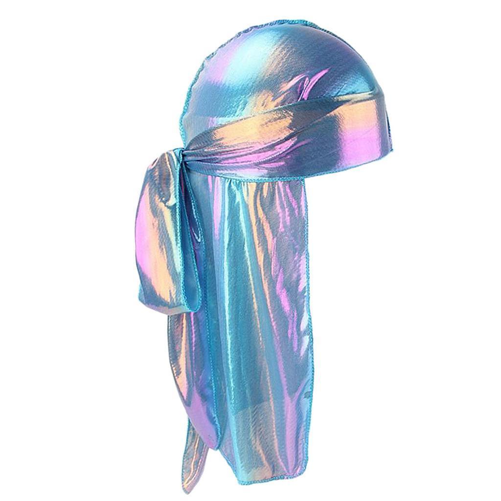 Männer Frauen Regenbogen Mütze Hip Hop Kopftuch Lappen Durag Lange