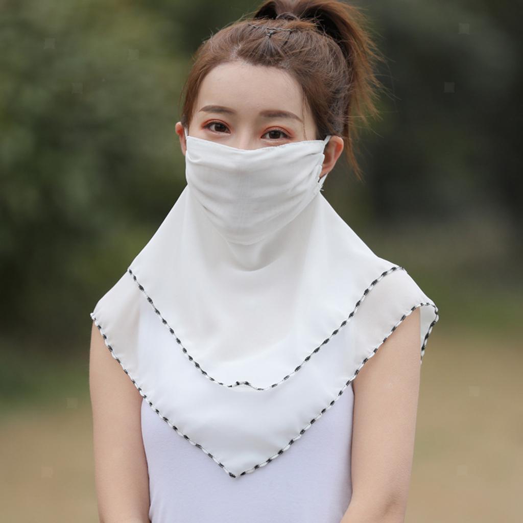 Femmes-demi-visage-masque-echarpe-bouche-couverture-exterieure-protection-UV miniature 3