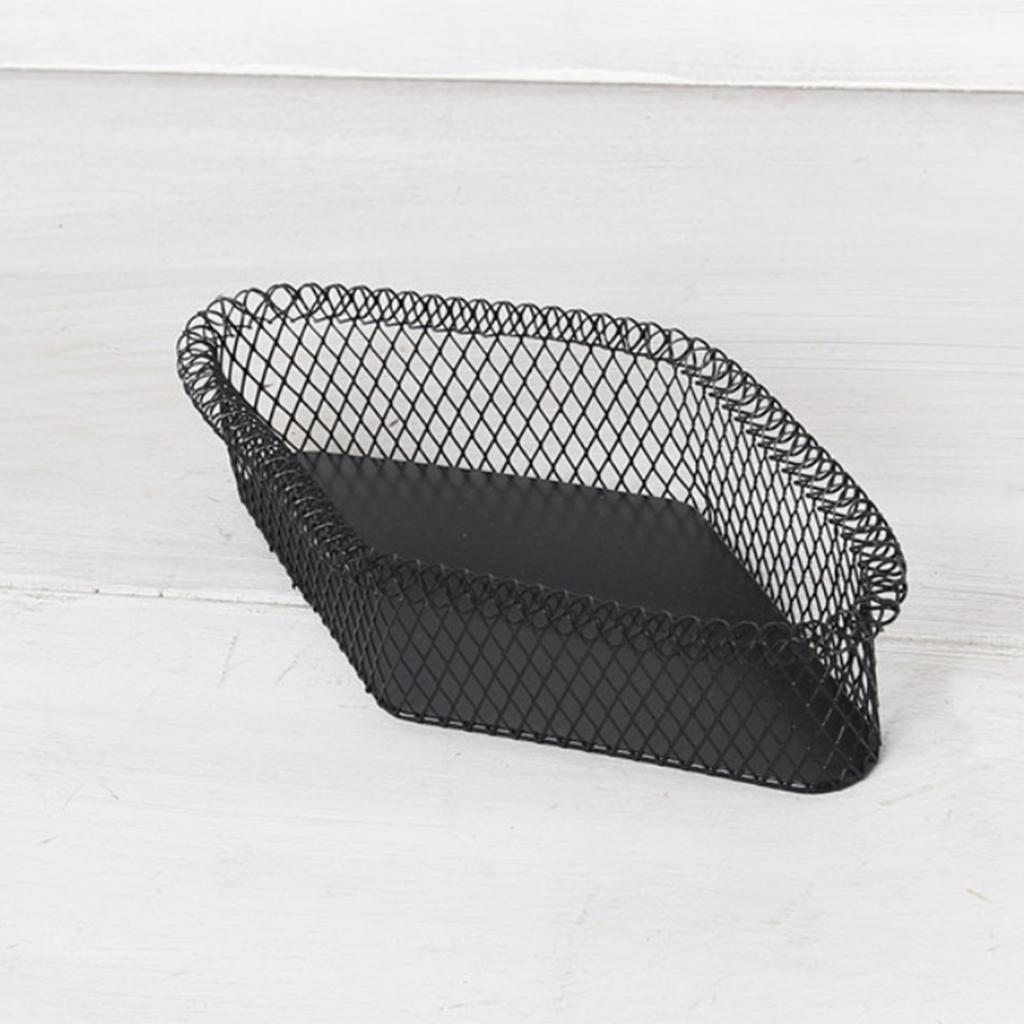 Metal-Wire-Fruit-Basket-Bowl-for-Living-Room-Kitchen-Countertop-Black thumbnail 10