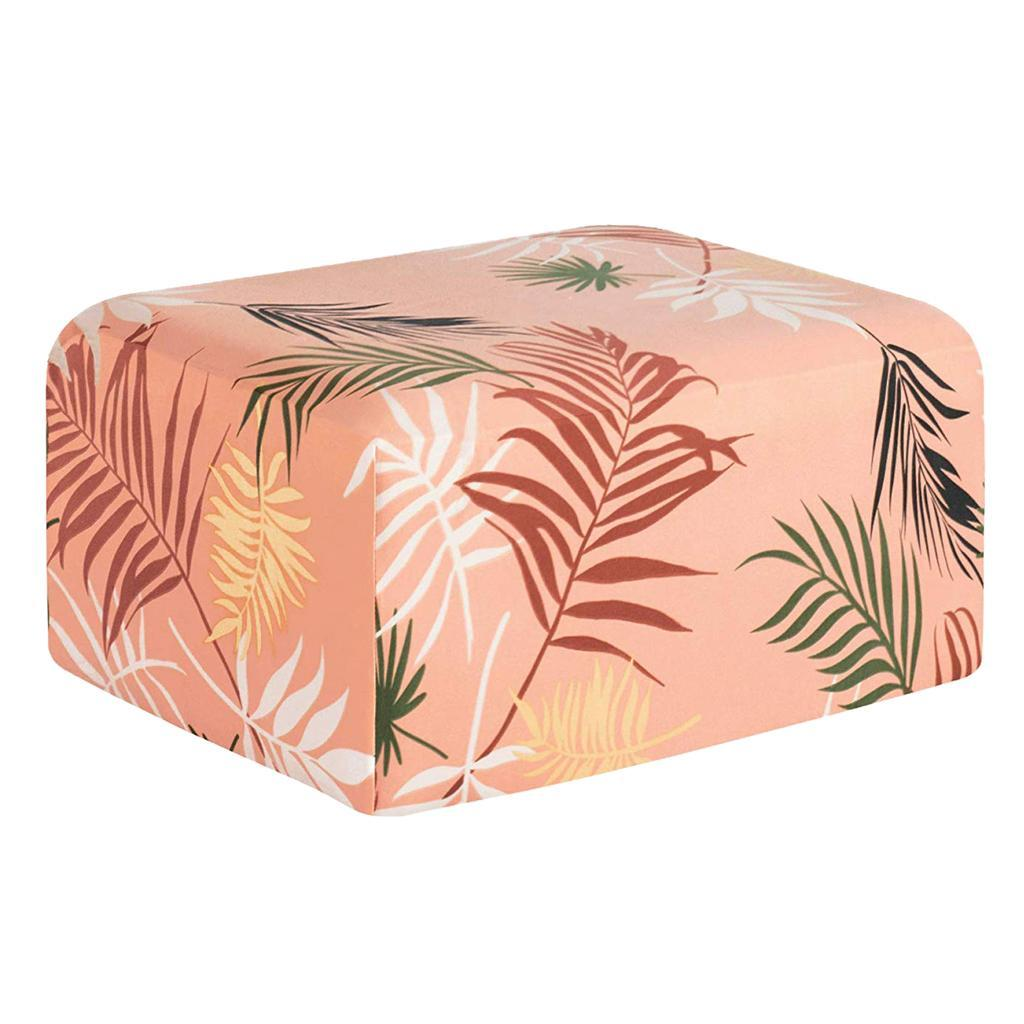 Floral Printed Stretch Footstool Cover Ottoman Slipcover