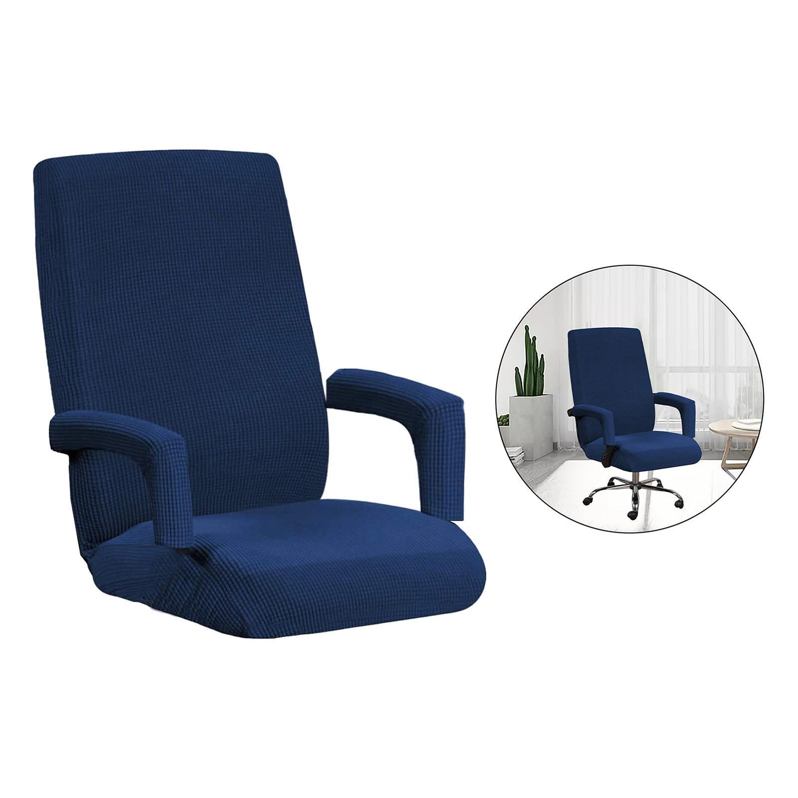 miniature 6 - Housses de chaise de bureau contemporaines à dossier haut et 2 housses de bras