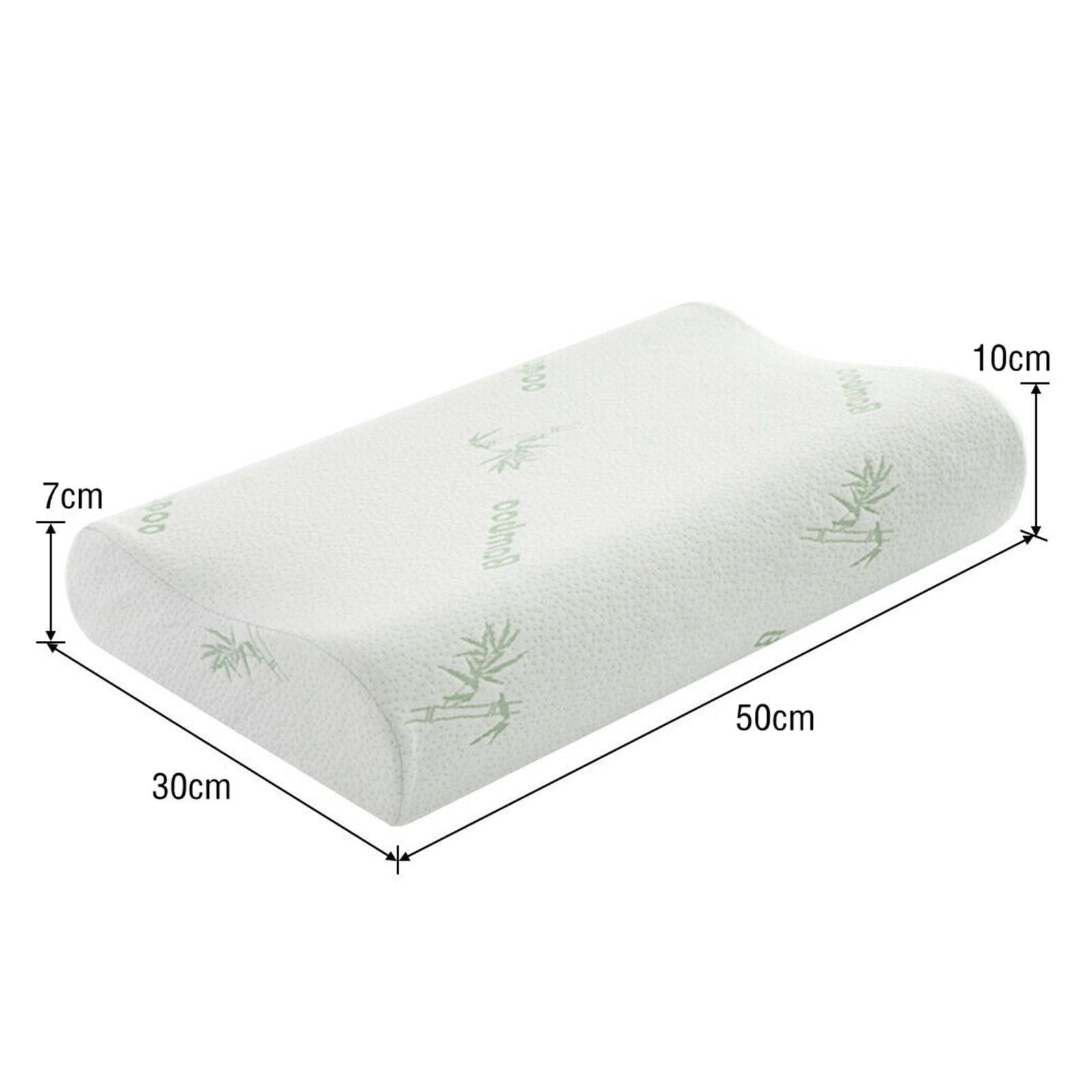 Cuscino-di-lusso-in-memory-foam-Cuscino-cervicale-Cuscino-per-la-testa-Federa miniatura 4