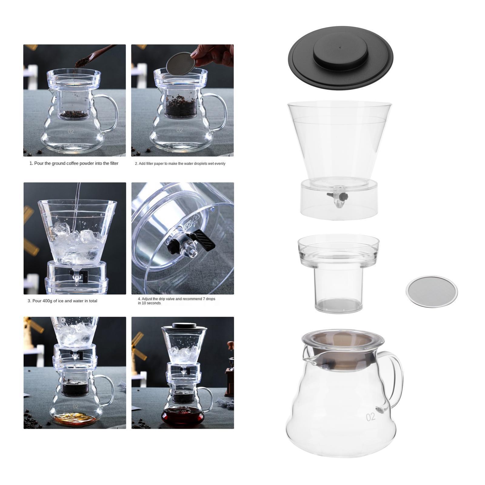 miniatura 12 - Ghiaccio macchina per il Caffè Caffè Pentola di Caffè Dripper Versare Sopra