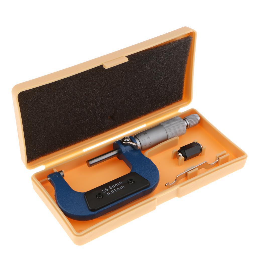 Außerhalb Mikrometer 0-25mm//0,01 mm Spurweite Vernier Bremssattel Ebene Mes