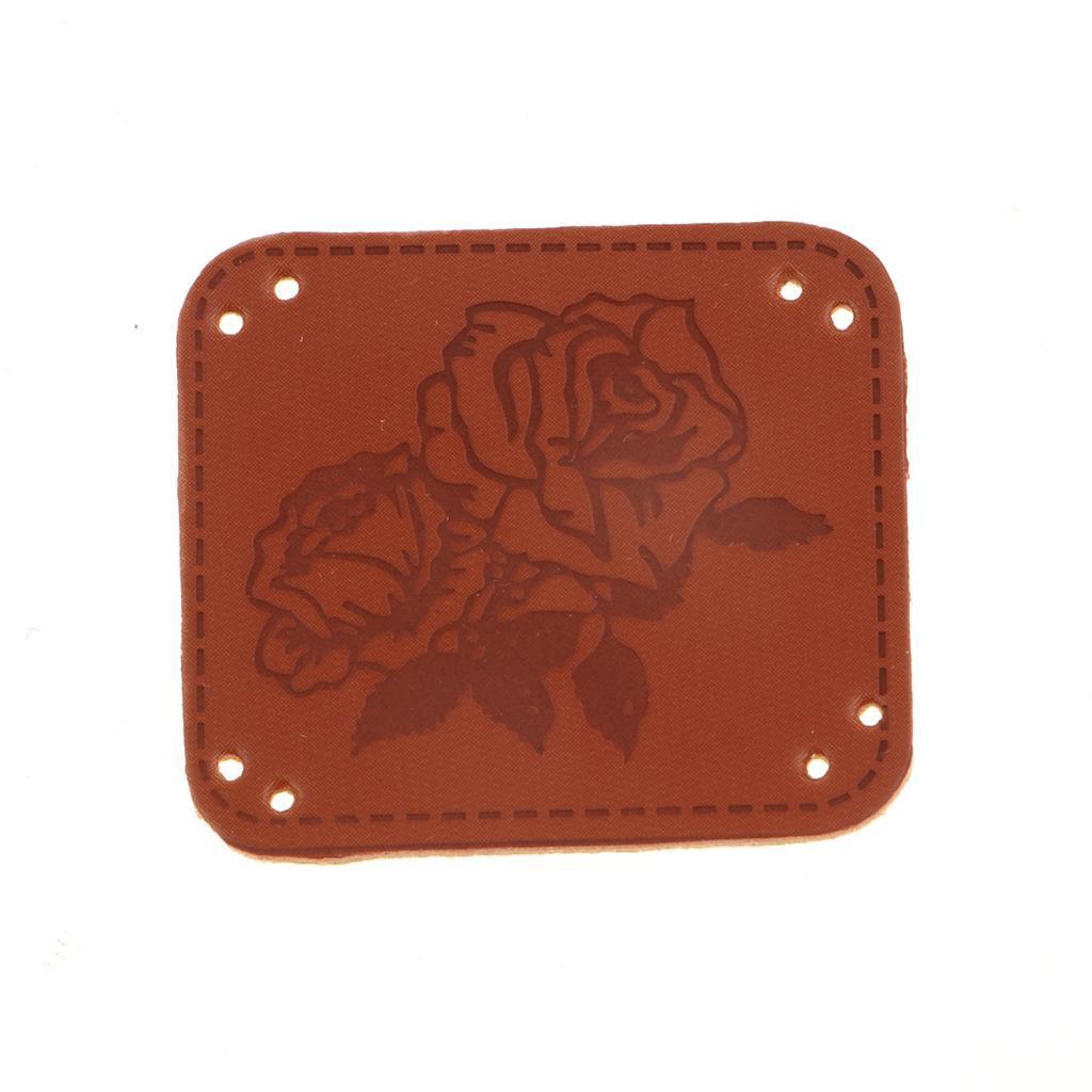 miniatura 12 - Etichette in pelle PU da 20 pezzi per cucire toppe per vestiti Artigianato fatto