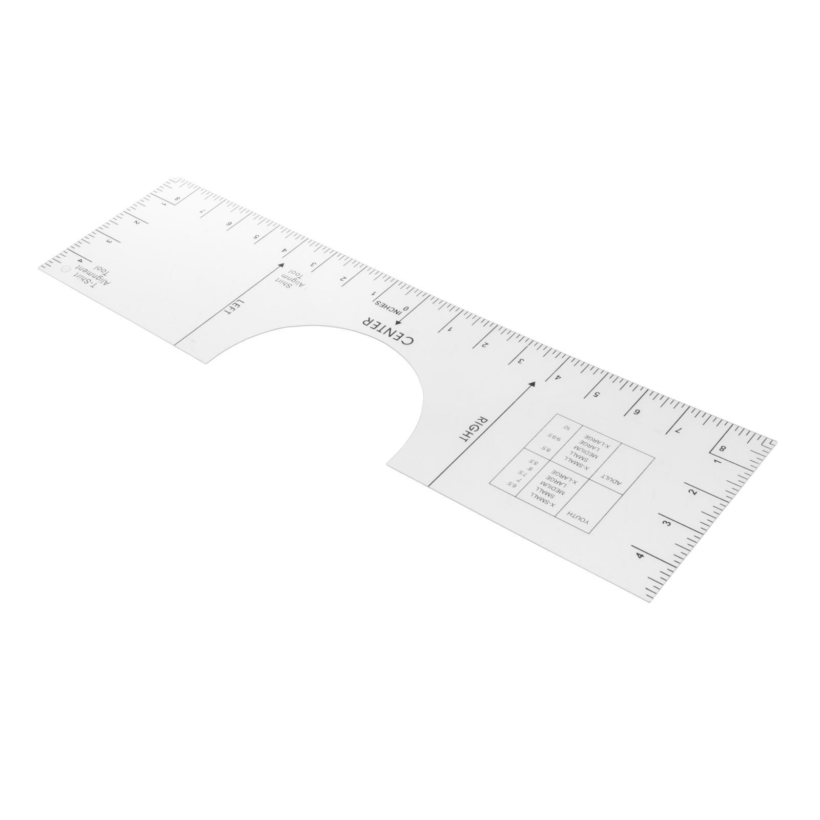 10x5 6 T Shirt Ruler Guide Alignment Tool For Vinyl Placement Sublimation Ebay
