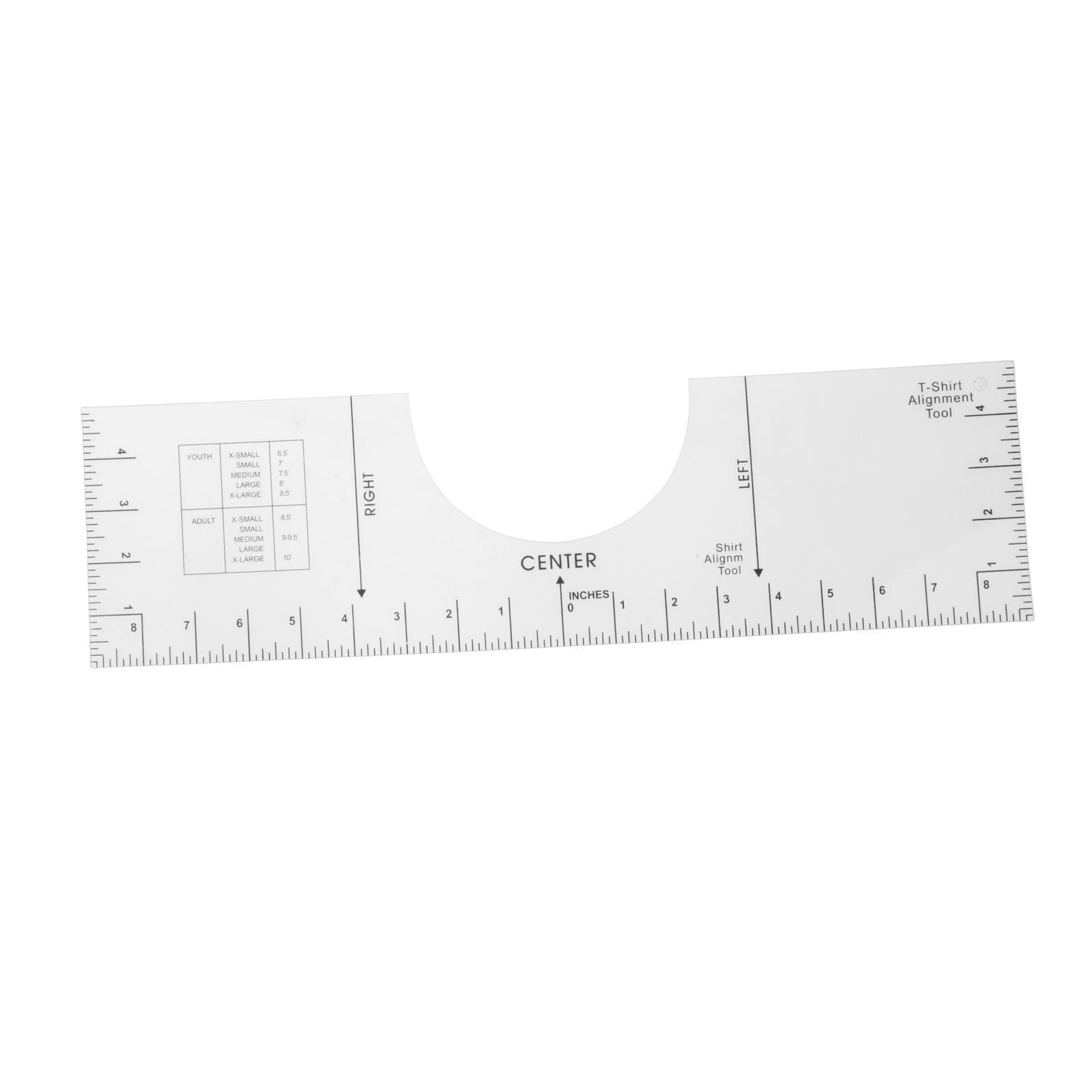 Heat Press T Shirt Centering Tool Kit 10x6 inch Fenteer 10x5//6 T-Shirt Ruler Guide Alignment Tool for Vinyl Placement Sublimation