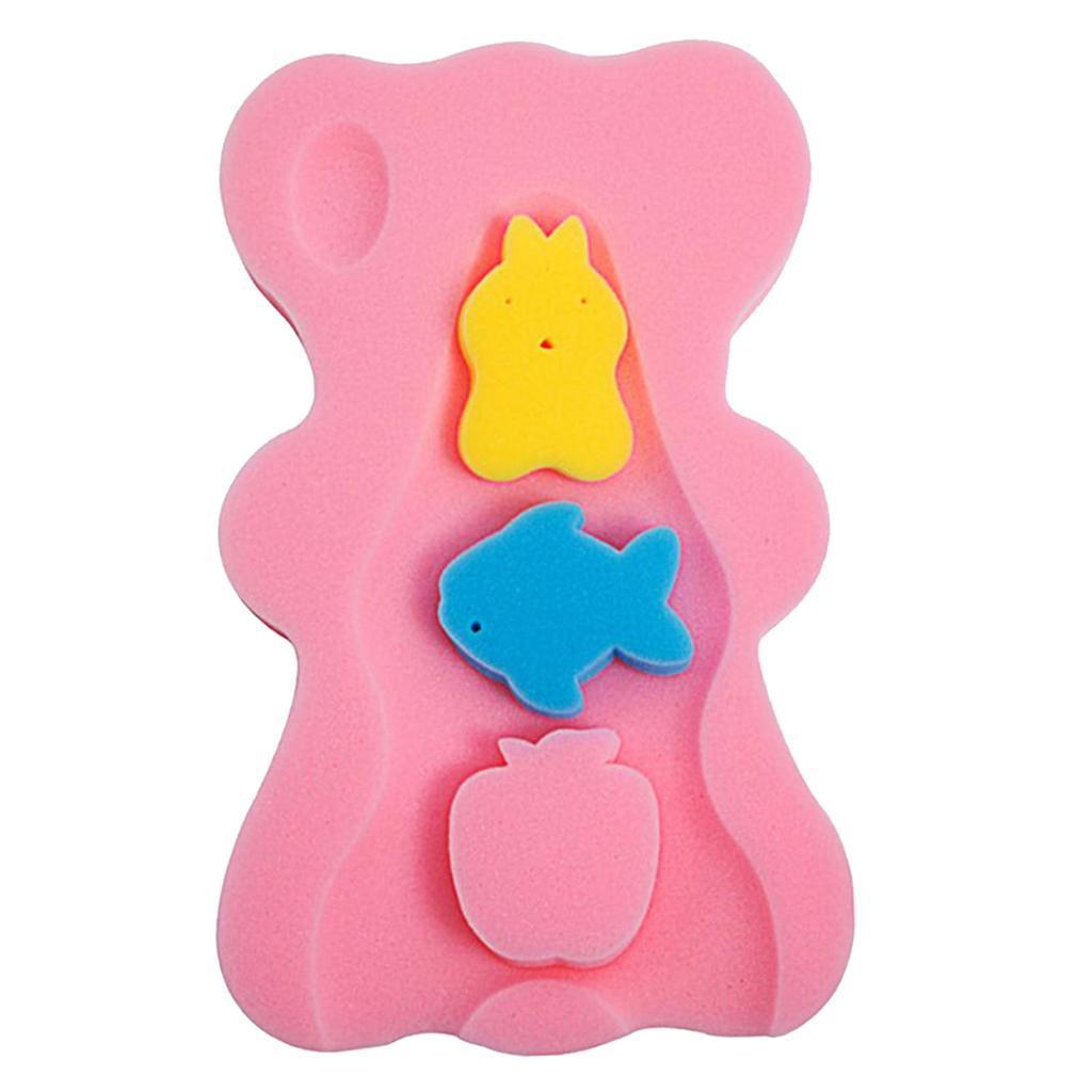 miniatura 4 - Spugna da bagno antiscivolo per neonati, cuscino in schiuma, comodo tappetino da