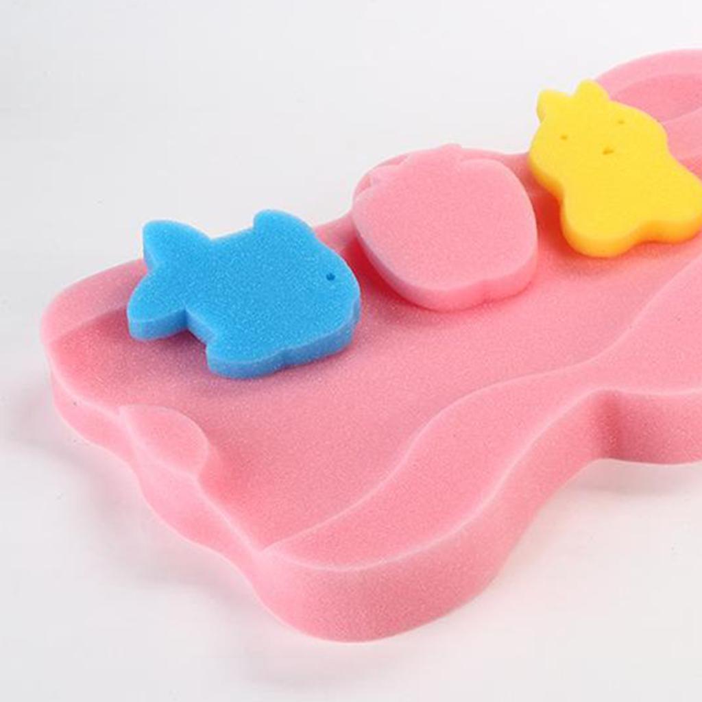 miniatura 4 - Cute Baby Care Spugna da bagno Cuscino da bagno Tappetino da bagno Tappetino da