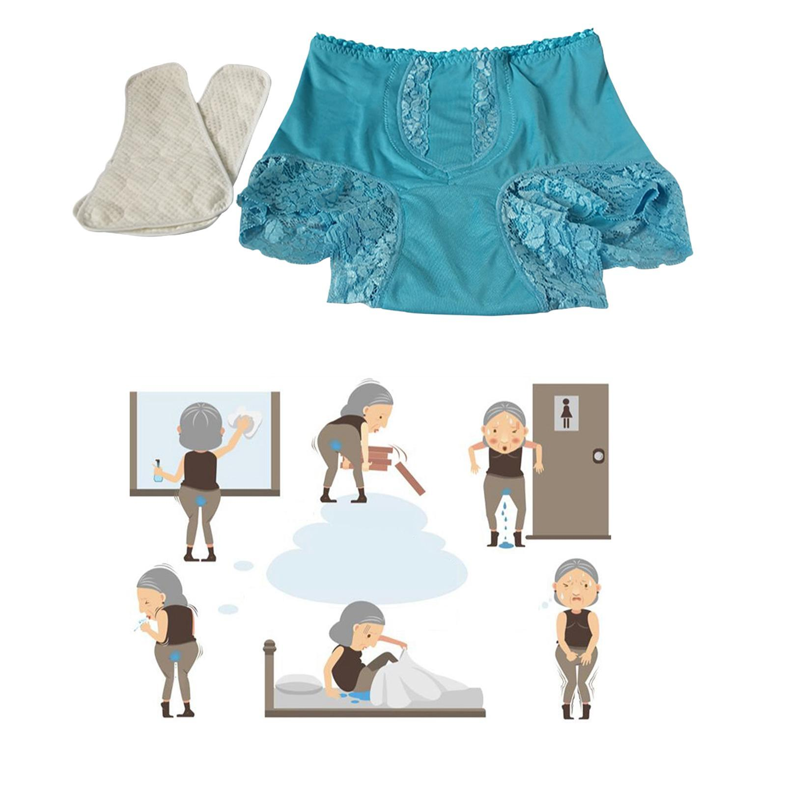 Indexbild 9 - Wiederverwendbare Inkontinenz Unterwäsche mit Pad für Frauen Menstruations