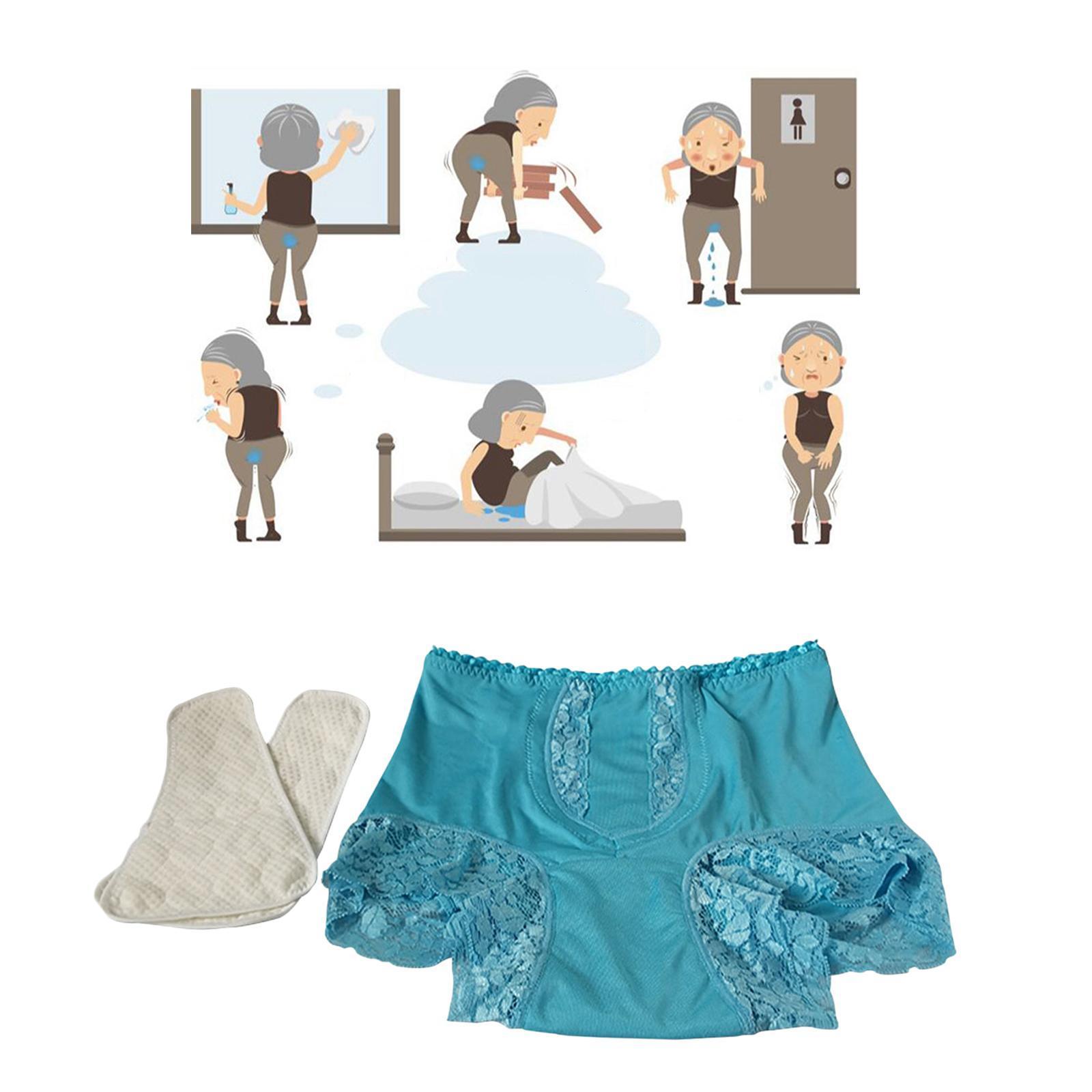 Indexbild 13 - Wiederverwendbare Inkontinenz Unterwäsche mit Pad für Frauen Menstruations