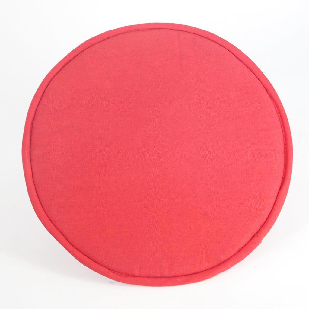 Tessuto-Rotondo-Tibetano-Singing-Bowl-Cuscino-per-Dharma-Buddhismo-Rosso miniatura 19