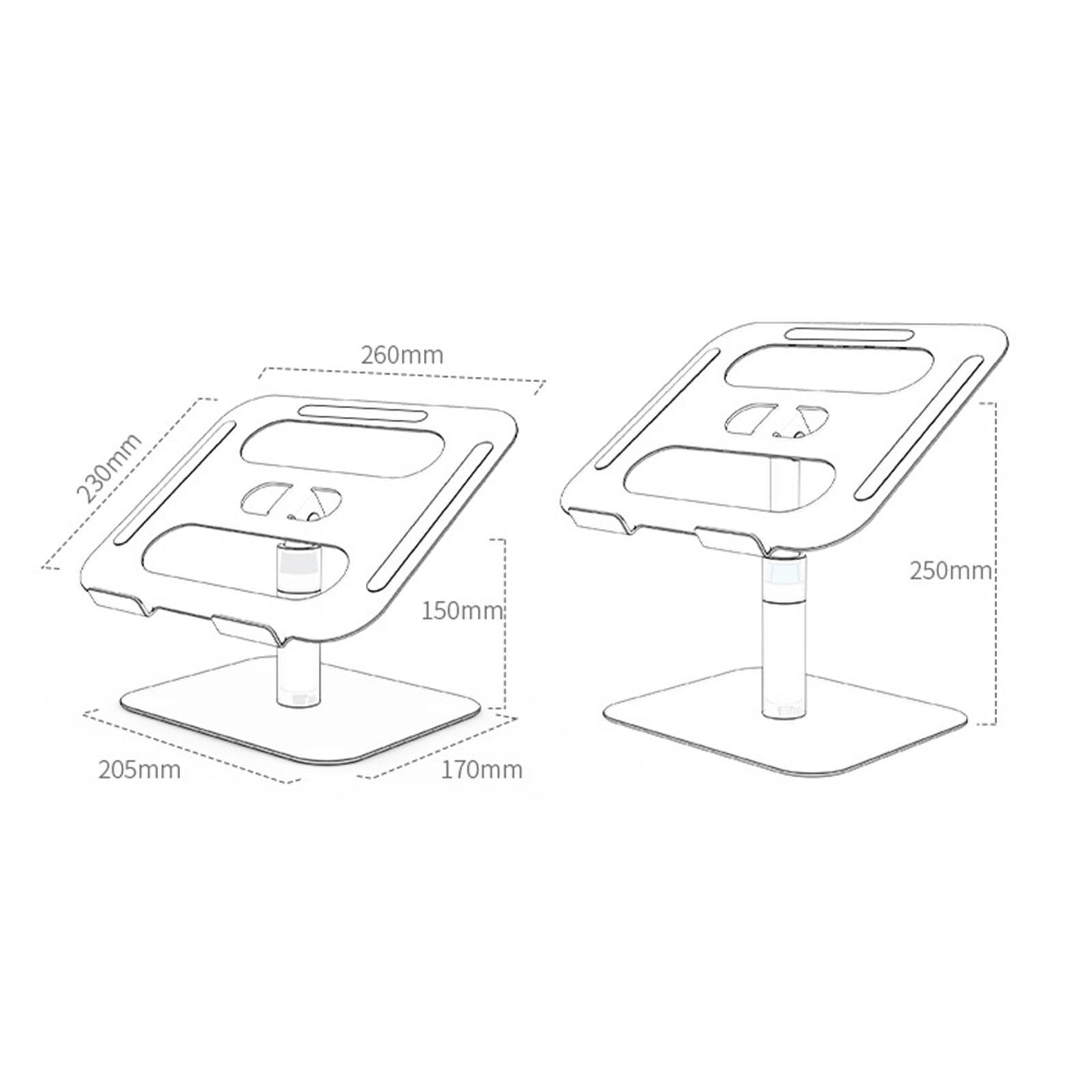 Indexbild 5 - Einstellbare Laptop Stand Halterung Portable Desktop PC Halter für Büro