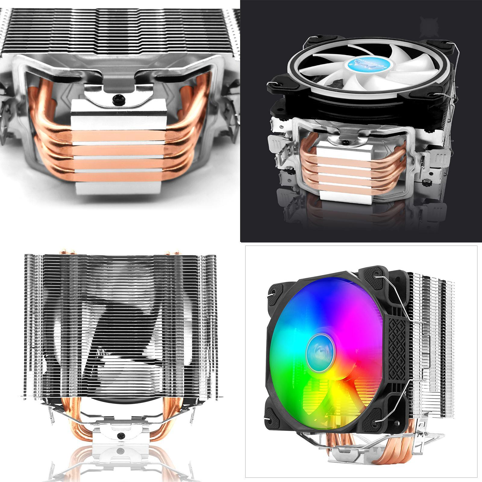 CPU Cooler Heatsink PWM Silent RGB Fans for Intel LGA 1150 1