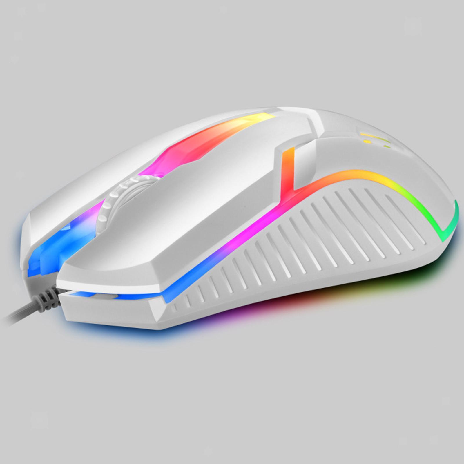 miniatura 4 - Mouse da gioco cablato luminoso USB E-Sports Mouse da gioco per PC 2400 DPI