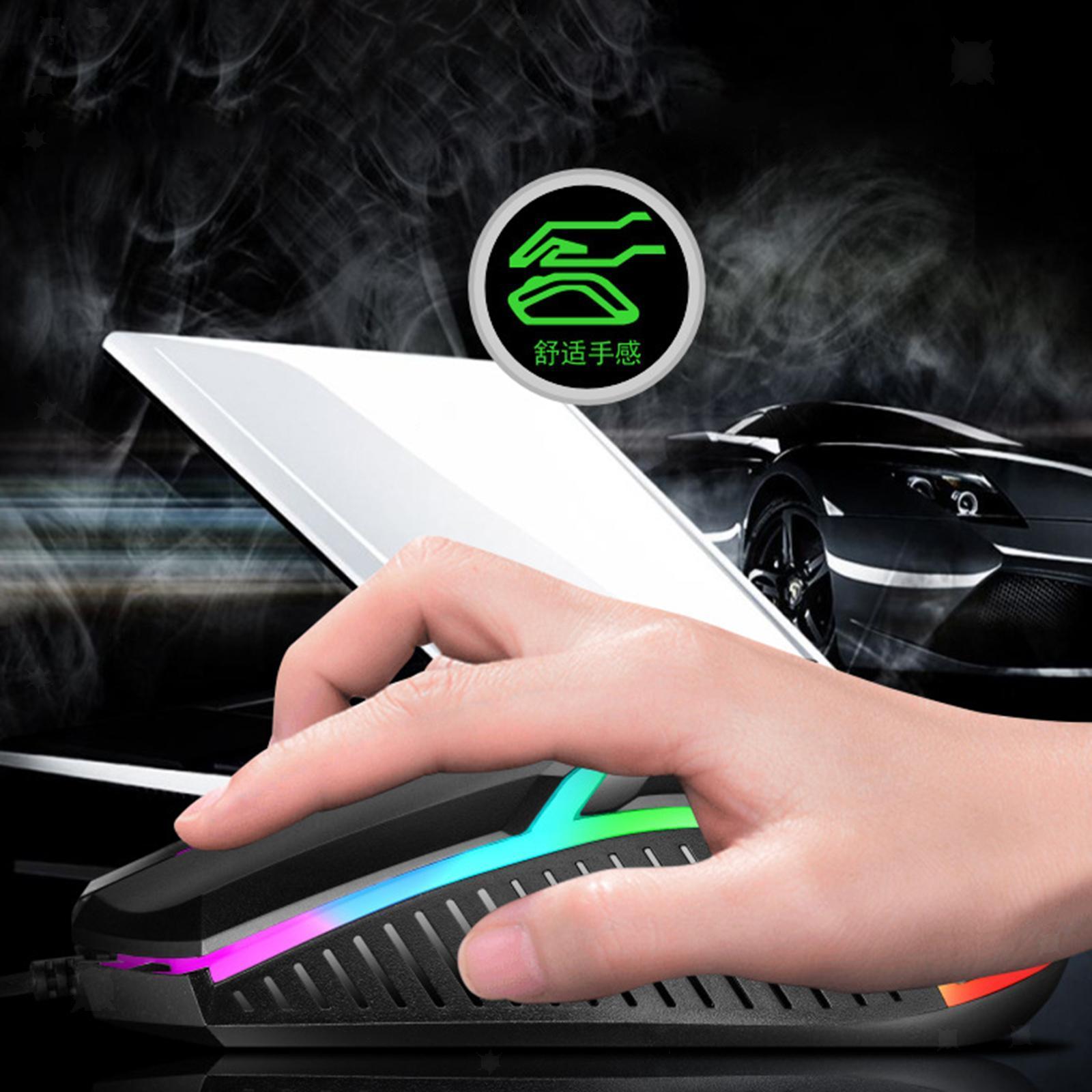 miniatura 13 - Mouse da gioco cablato luminoso USB E-Sports Mouse da gioco per PC 2400 DPI