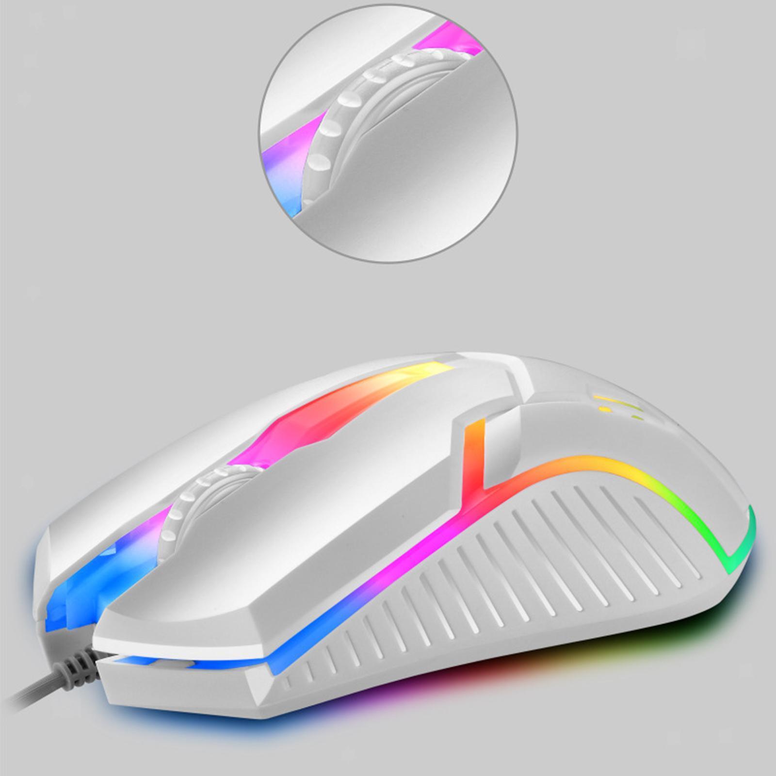 miniatura 8 - Mouse da gioco cablato luminoso USB E-Sports Mouse da gioco per PC 2400 DPI