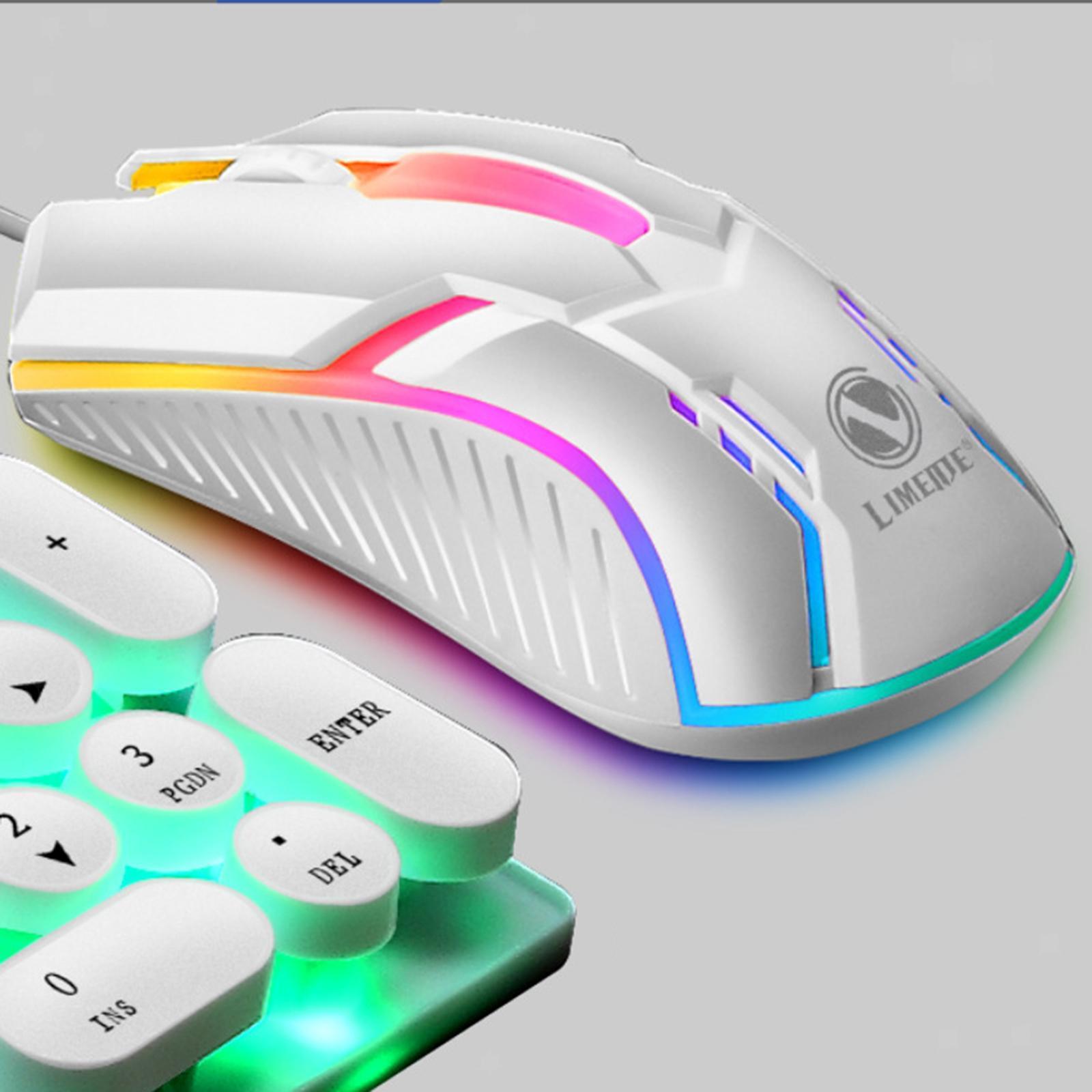 miniatura 12 - Mouse da gioco cablato luminoso USB E-Sports Mouse da gioco per PC 2400 DPI