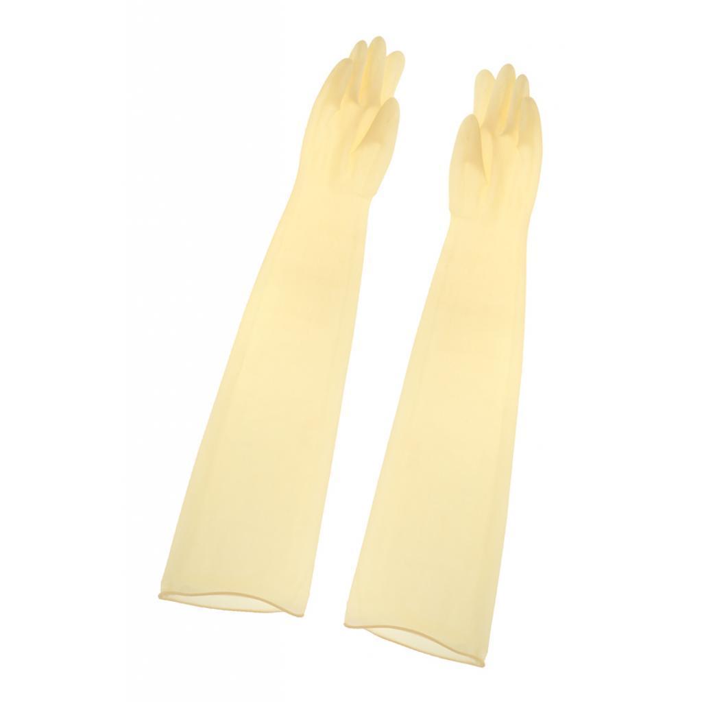Indexbild 5 - 1-Paar-70cm-industrielle-Anti-Saeure-Alkali-Gummihandschuhe-gelb