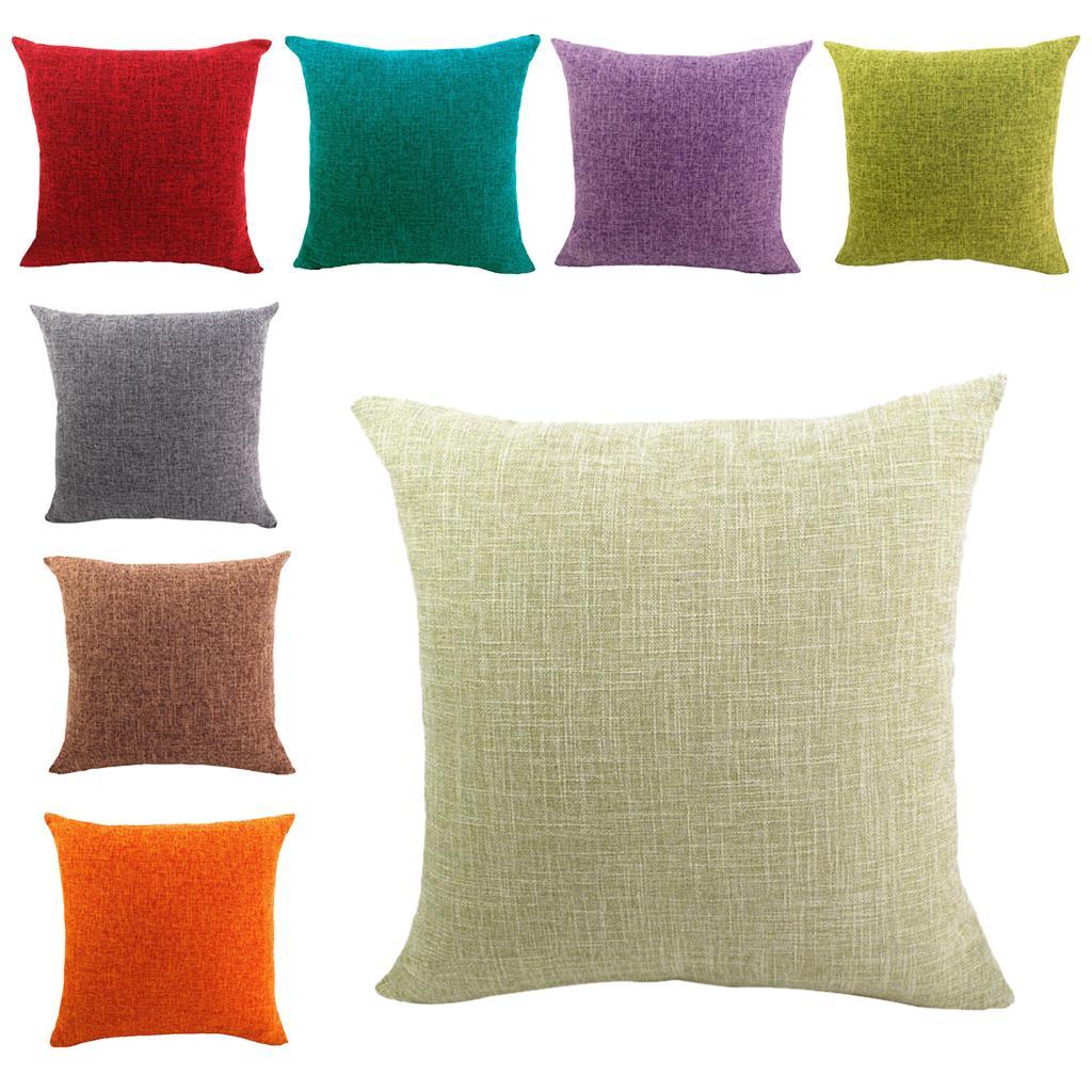 100% Baumwolle schlicht Bettwäsche Kissenhülle Kissenbezug Dekokissen