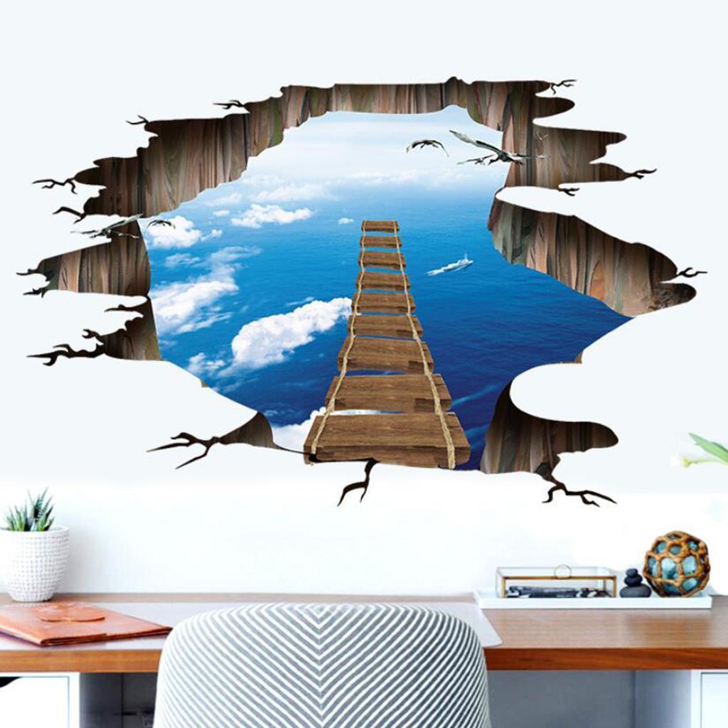 Adesivi murali adesivi decorativi per porte scale 3D per ...