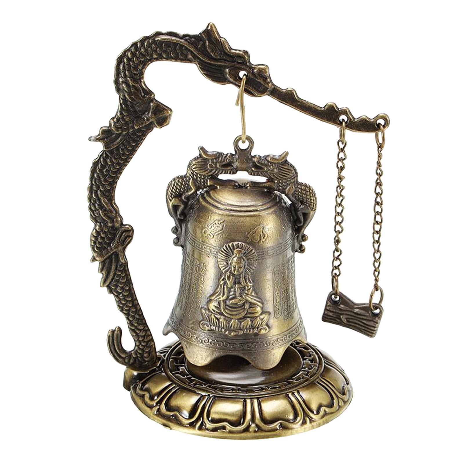 miniatura 6 - Buddha Drago Fengshui campana giocattoli tibetano per Home GIARDINO