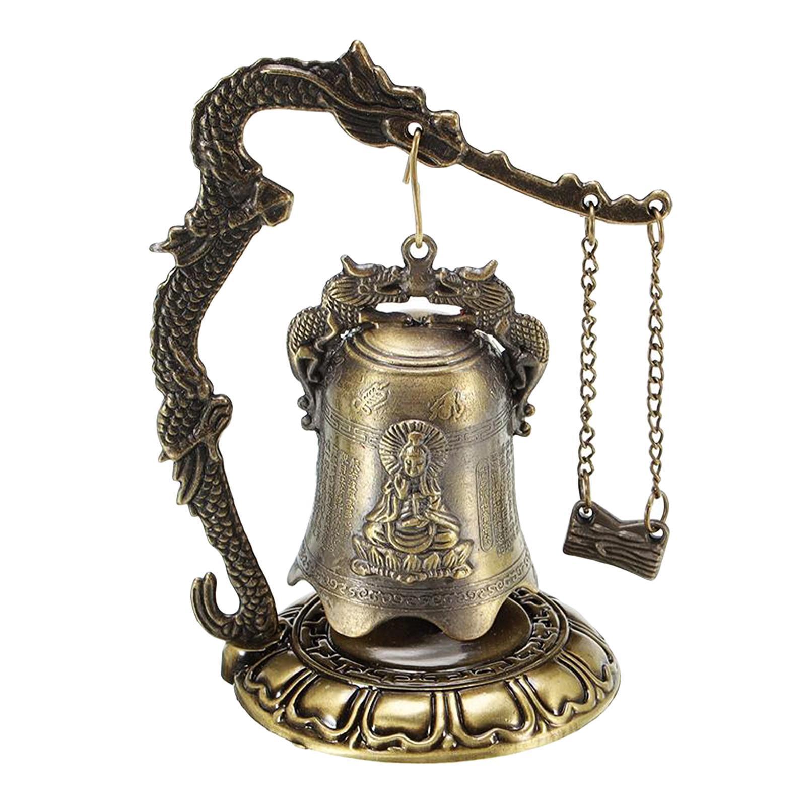 miniatura 8 - Buddha Drago Fengshui campana giocattoli tibetano per Home GIARDINO