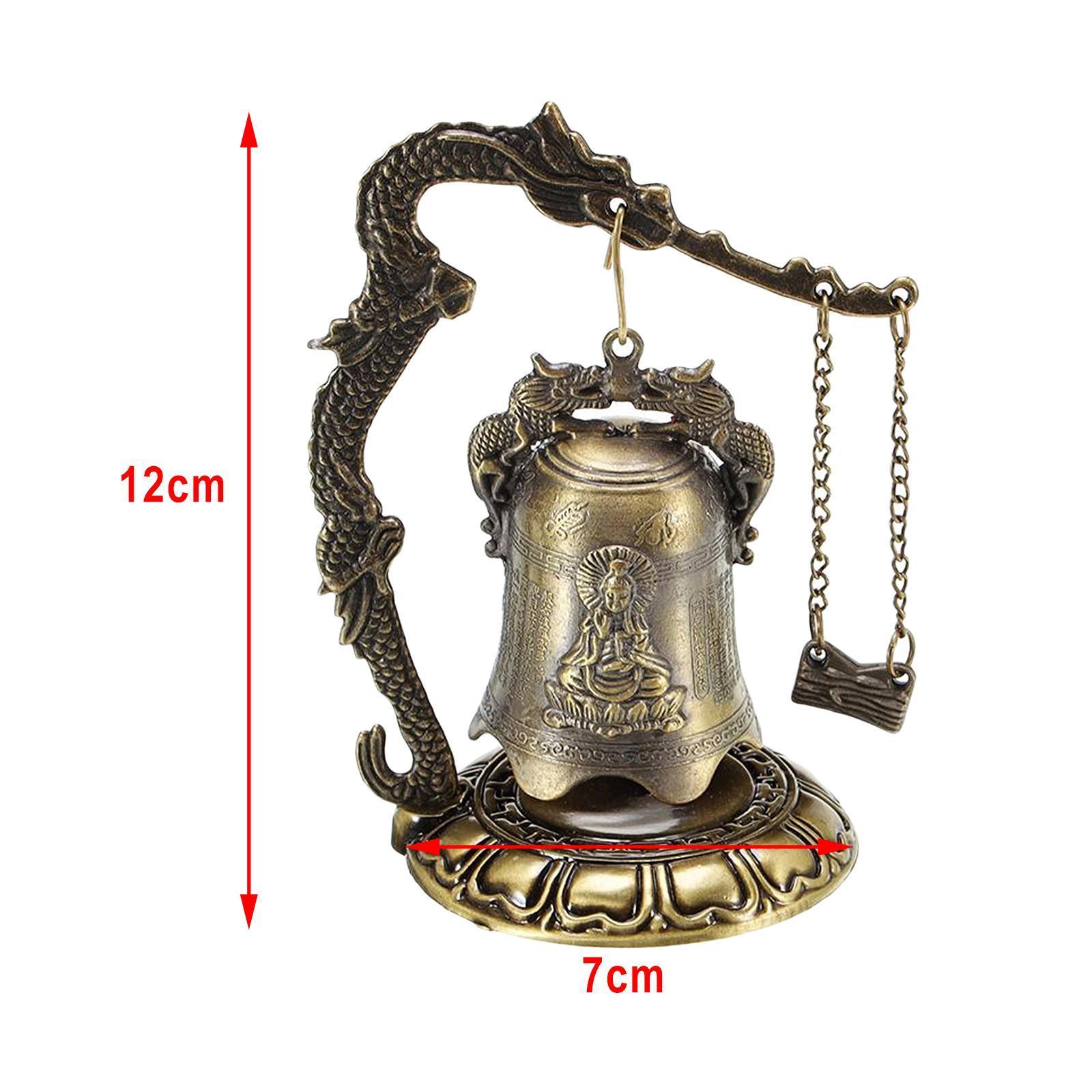 miniatura 7 - Buddha Drago Fengshui campana giocattoli tibetano per Home GIARDINO