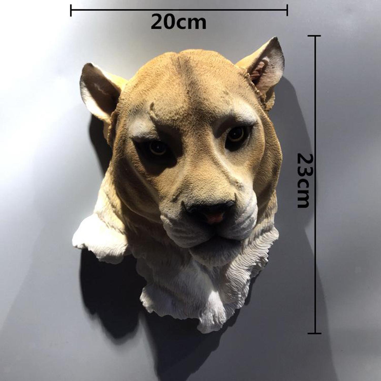 miniatura 3 - Parete Appeso Novità Realistico In Resina Testa di Animale Decorazione di