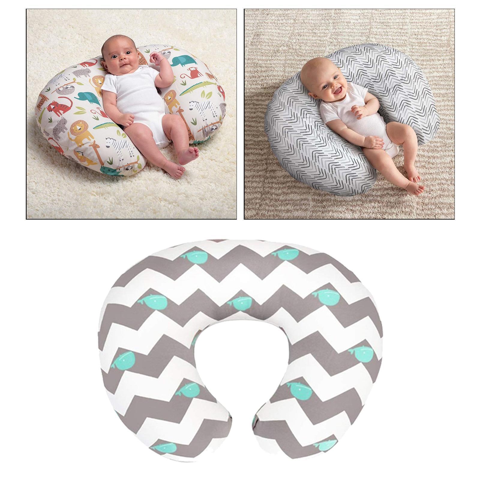 miniatura 9 - A Forma di U Del Bambino Cuscino Allattamento Cuscini di Cura per il Neonato