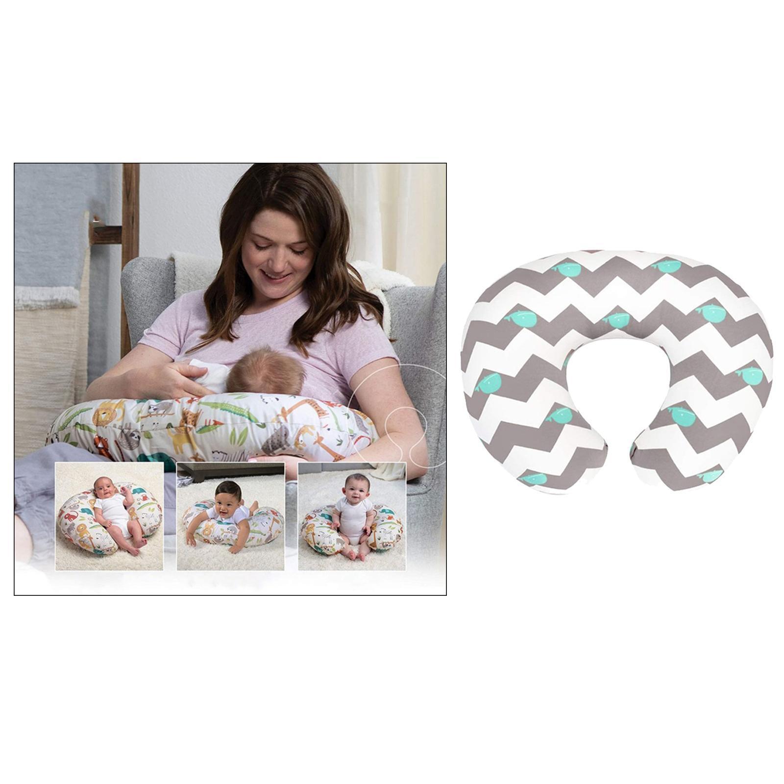 miniatura 8 - A Forma di U Del Bambino Cuscino Allattamento Cuscini di Cura per il Neonato