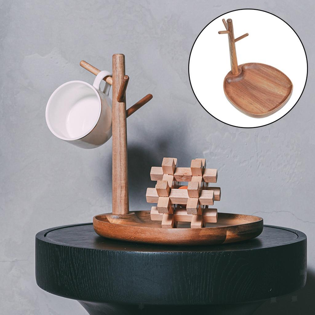 Indexbild 9 - Holz Schmuck Tablett Schmuckstück Halskette Halter Kleiderbügel Haken Uhr