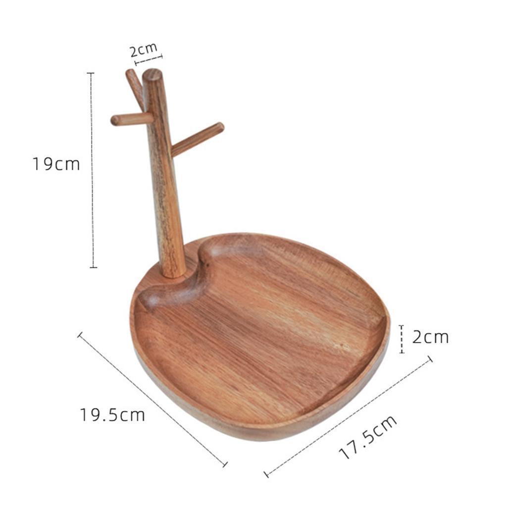 Indexbild 11 - Holz Schmuck Tablett Schmuckstück Halskette Halter Kleiderbügel Haken Uhr