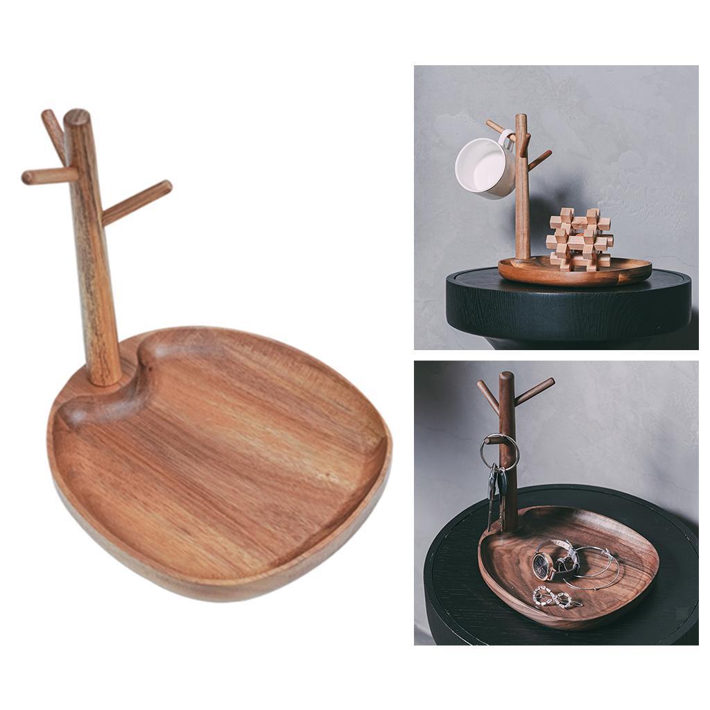 Indexbild 7 - Holz Schmuck Tablett Schmuckstück Halskette Halter Kleiderbügel Haken Uhr