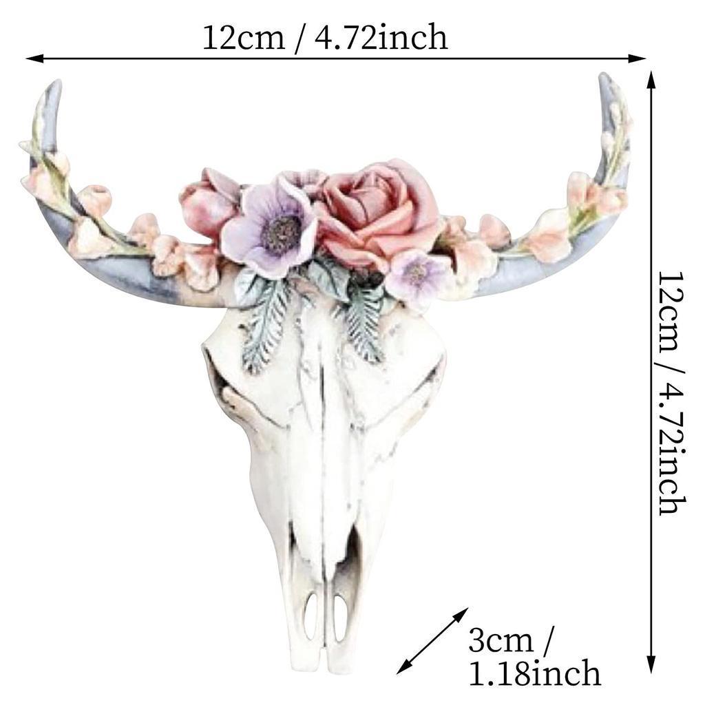miniatura 34 - Longhorn Appeso A Parete Scultura Vivid Testa di Animale Opere D'arte