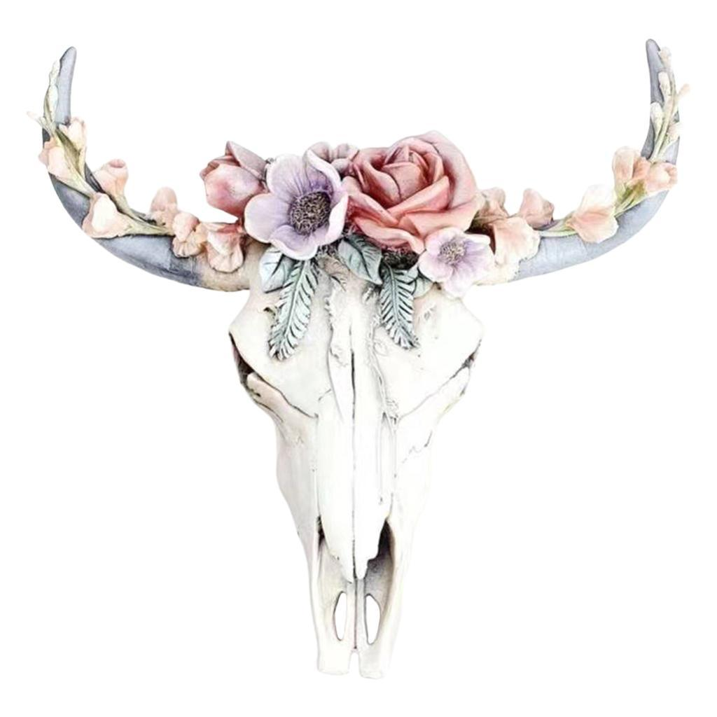 miniatura 35 - Longhorn Appeso A Parete Scultura Vivid Testa di Animale Opere D'arte