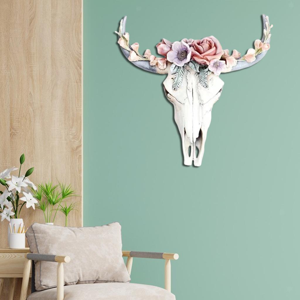 miniatura 36 - Longhorn Appeso A Parete Scultura Vivid Testa di Animale Opere D'arte