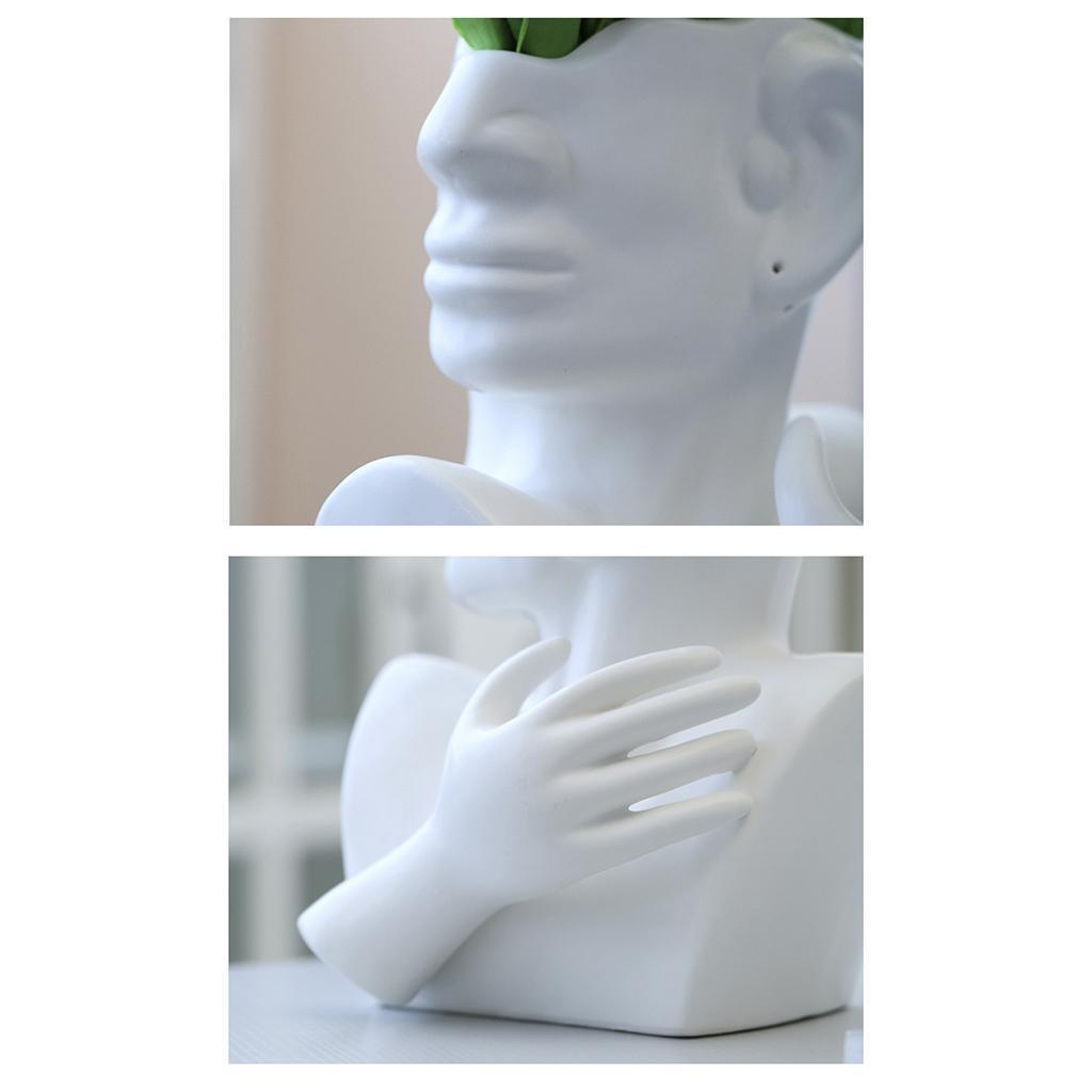 Indexbild 4 - Kreative Keramik Gesicht Vase Blumentöpfe Portrait Home Wohnzimmer