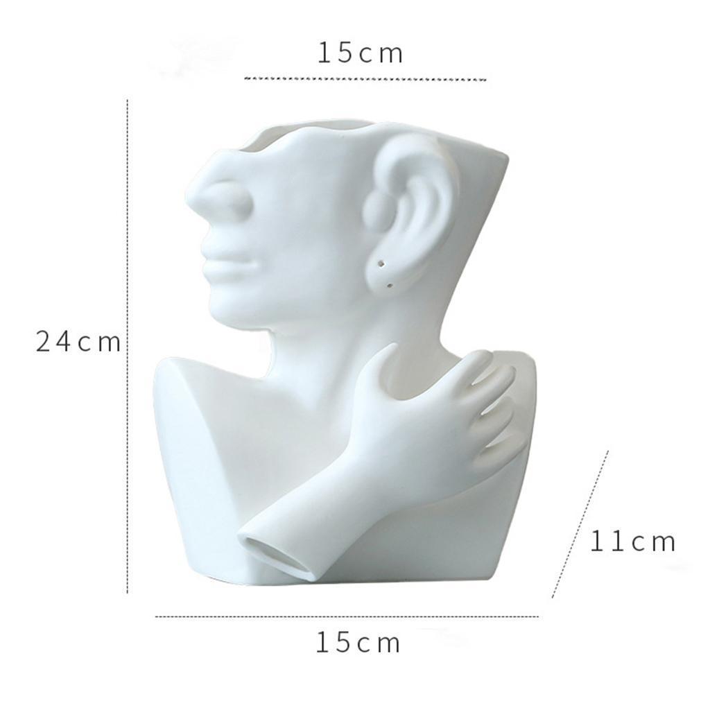 Indexbild 7 - Kreative Keramik Gesicht Vase Blumentöpfe Portrait Home Wohnzimmer