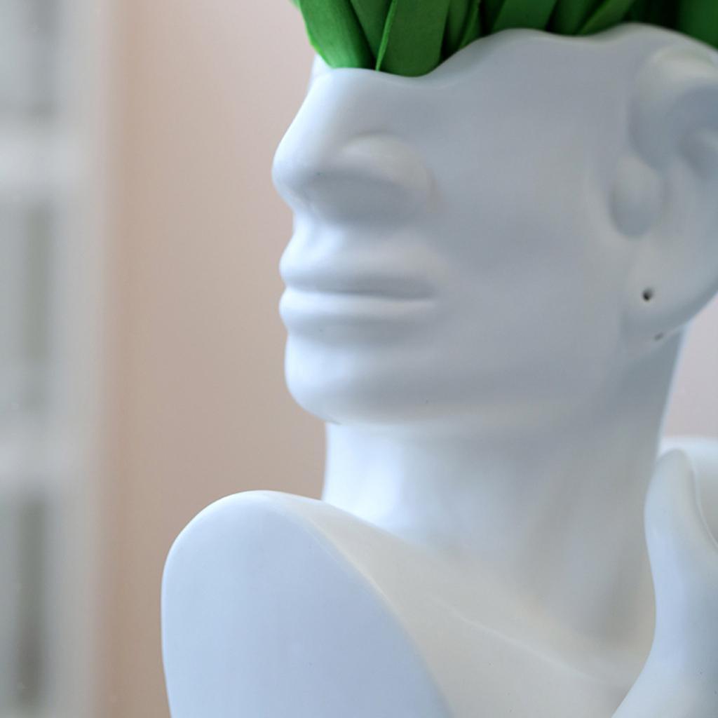 Indexbild 12 - Kreative Keramik Gesicht Vase Blumentöpfe Portrait Home Wohnzimmer
